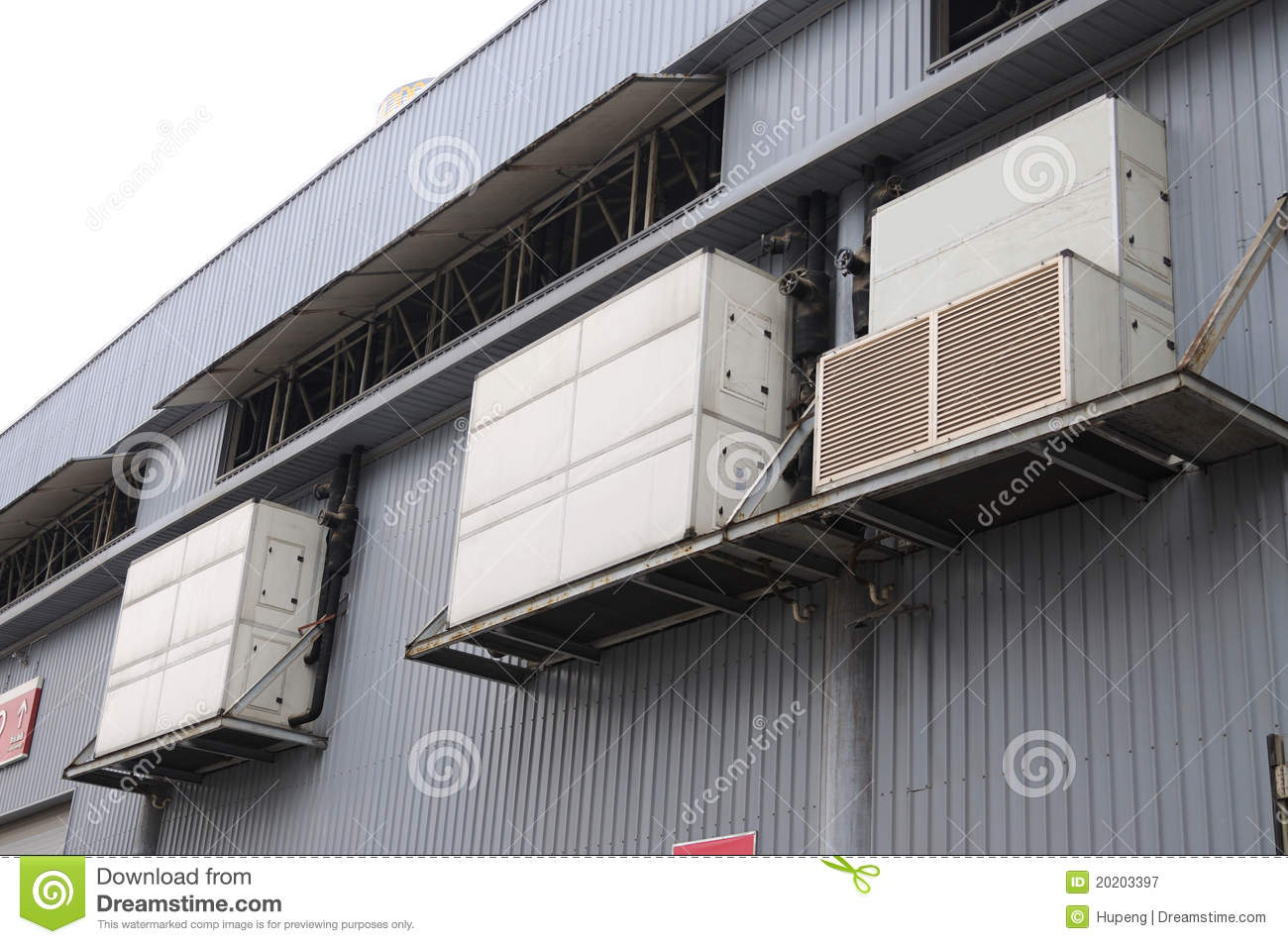 Central Air Conditioning Equipment Royalty Free Stock Photography  #757754