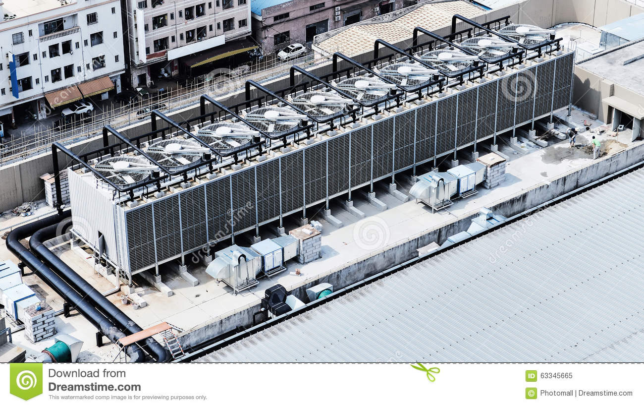 Central Air Conditioning Equipment Stock Image Image