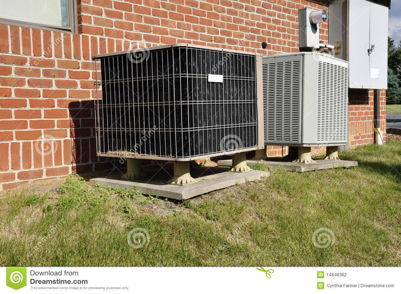 Central Air Conditioning Unit Stock Photography Image: 14646362 #82A12A