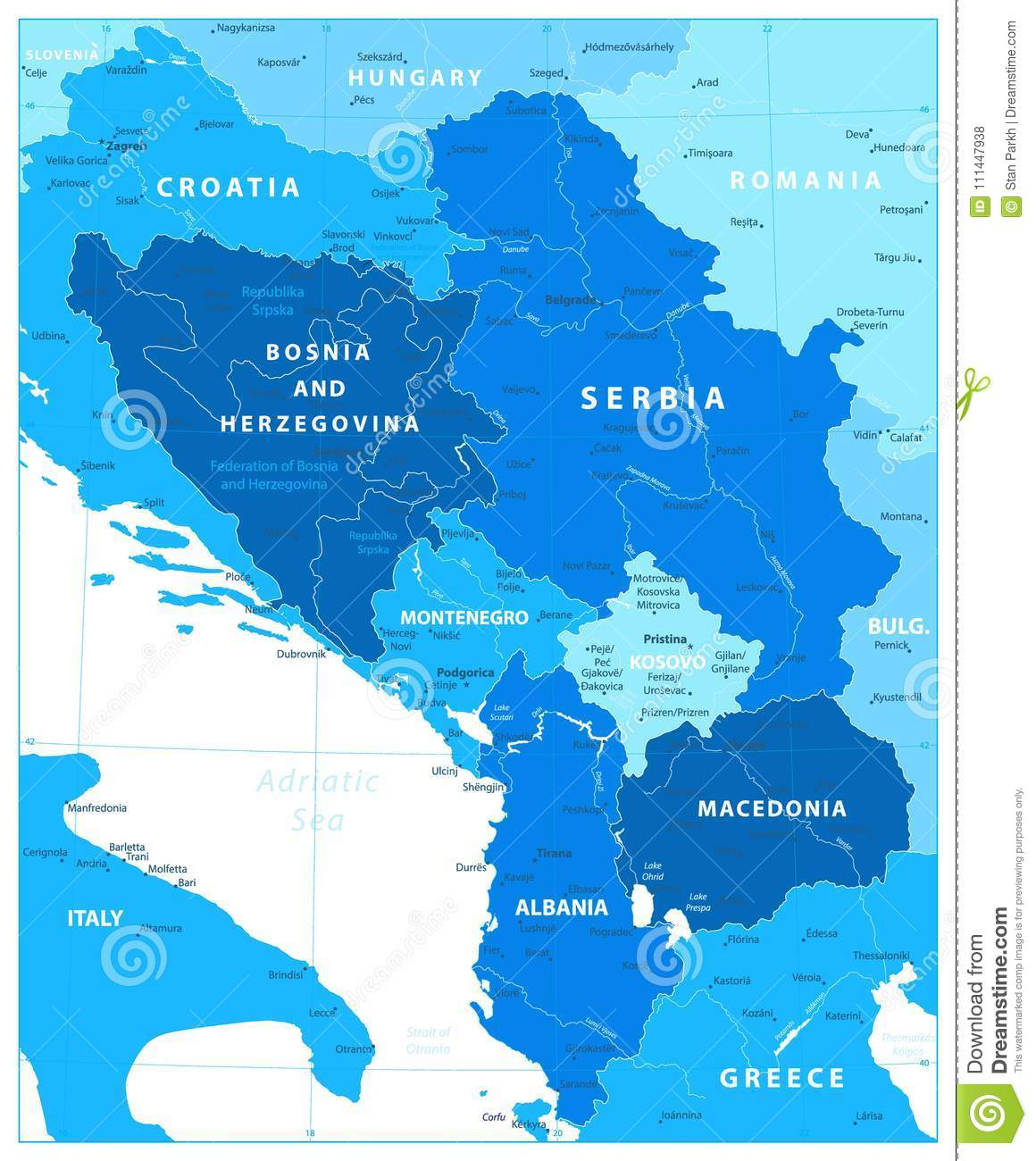 Central balkan region map in colors of blue stock vector download central balkan region map in colors of blue stock vector illustration of italy publicscrutiny Choice Image