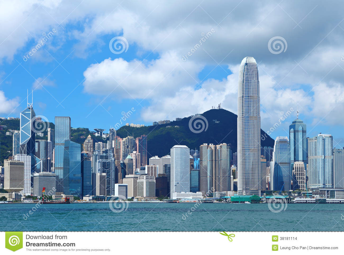 Central Business District In Hong Kong Stock Photo - Image ...