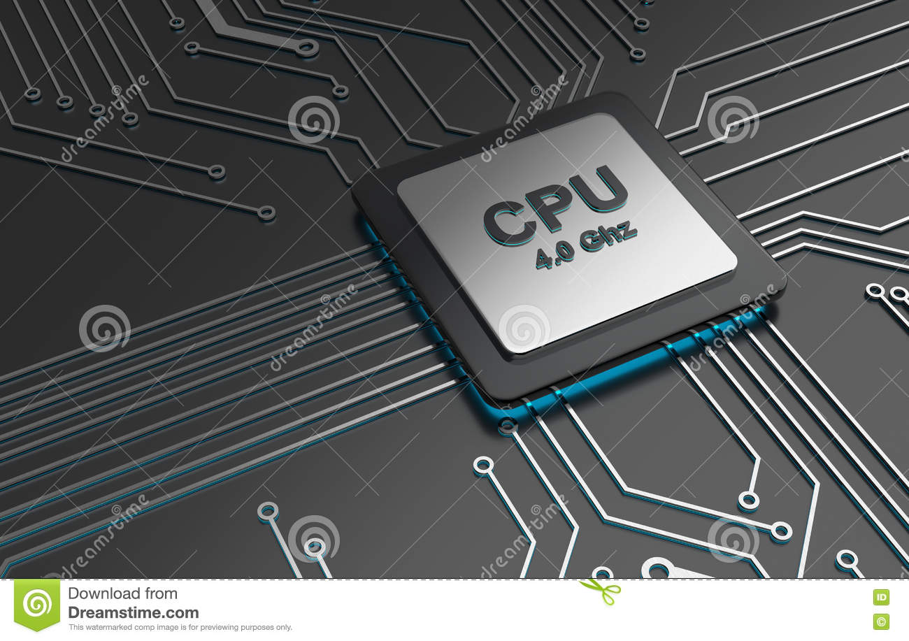 Central computer processors, CPU computer technology, Electronic concept