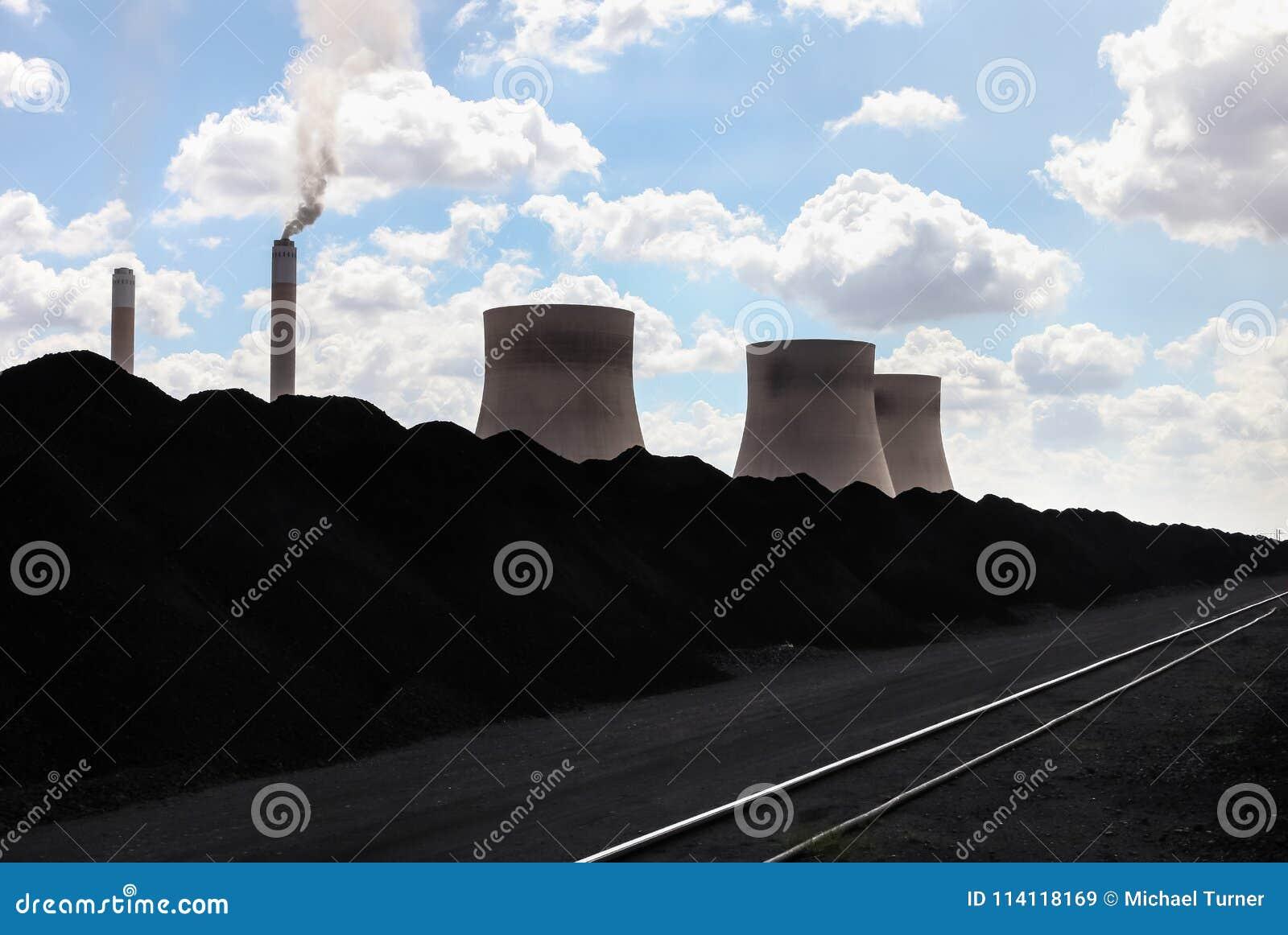 Central eléctrica ardente de carvão