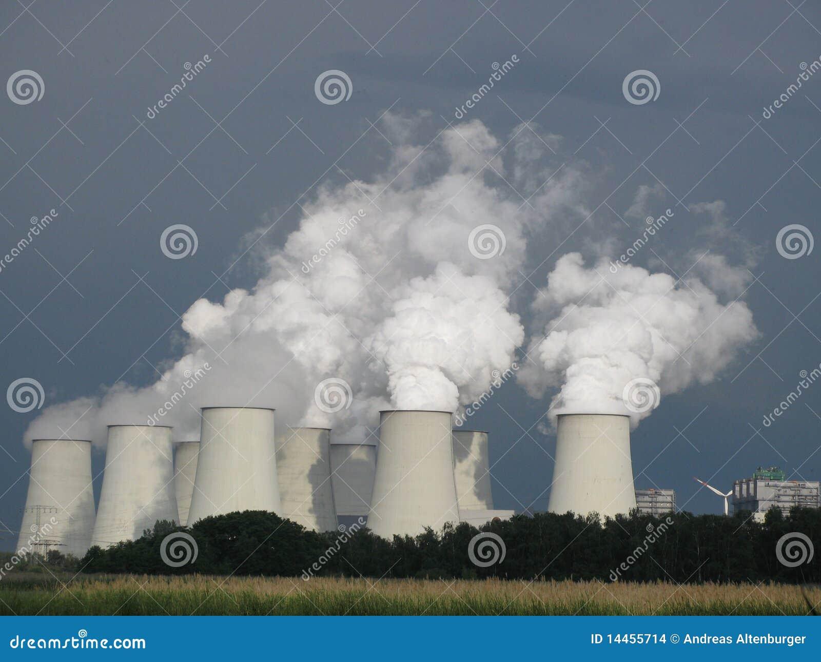 Central eléctrica con carbón, cambio de clima
