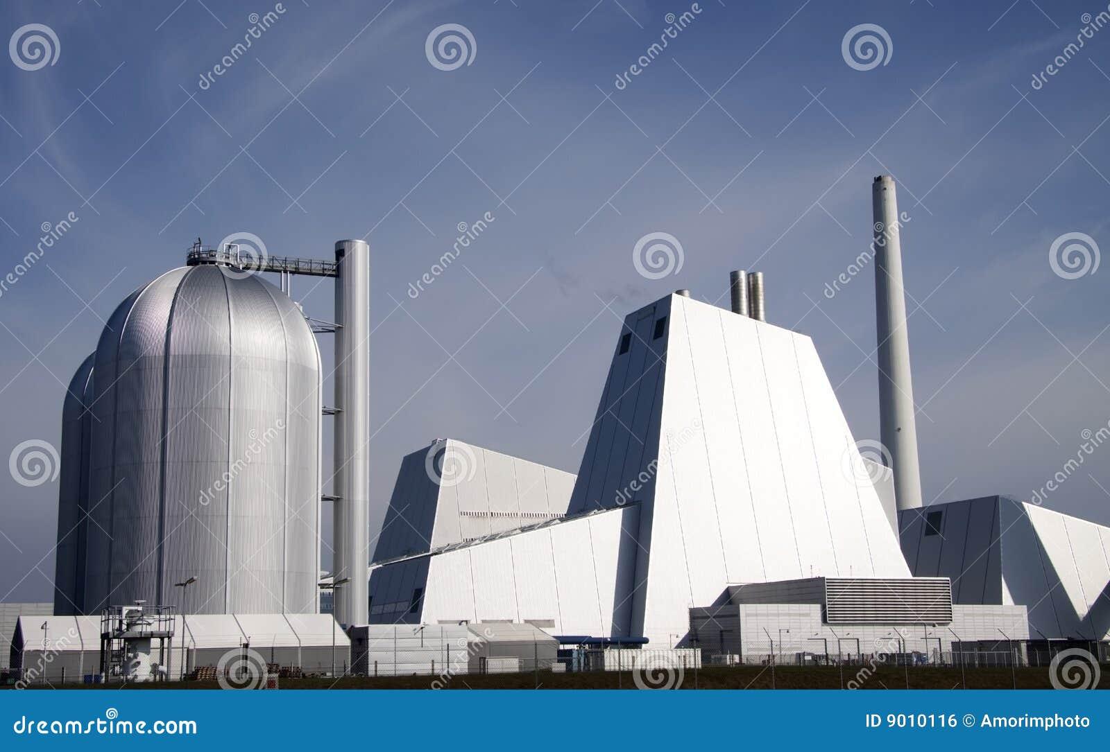 Central eléctrica de carbón grande