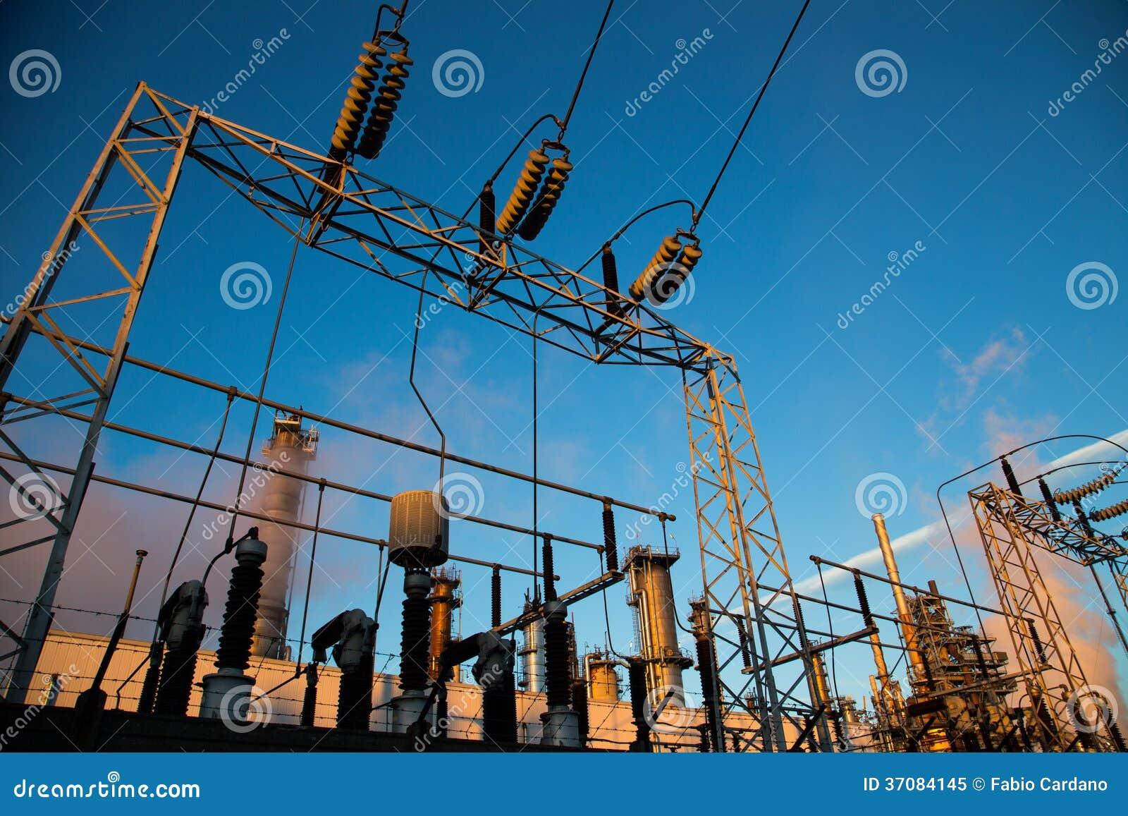 Central eléctrica de la energía