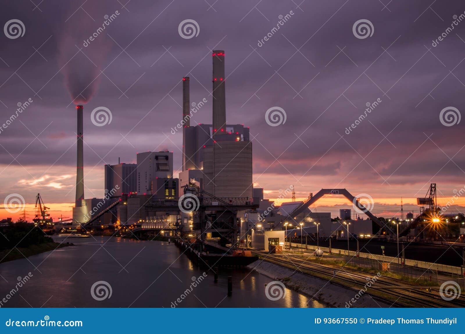 Central eléctrica en Mannheim