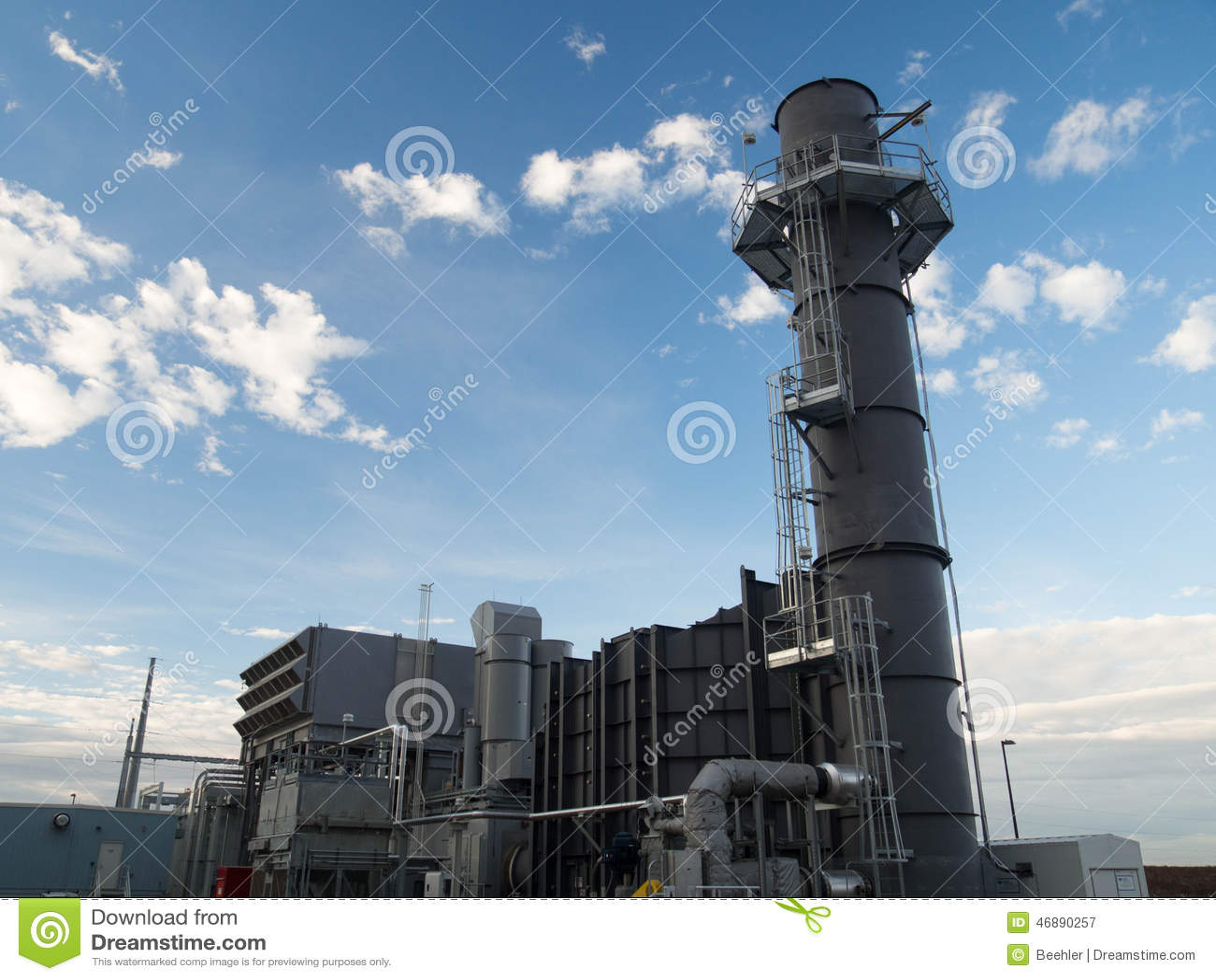 Central elétrica da turbina de gás