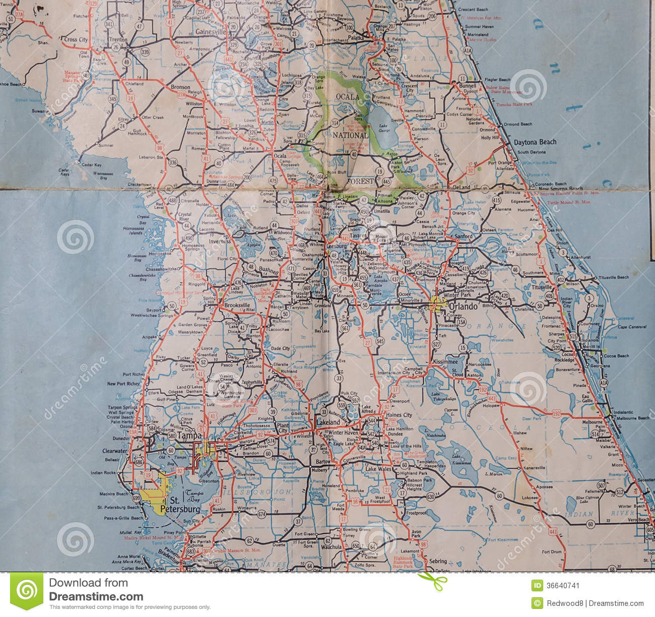 central florida  s. central florida 's stock image image of population