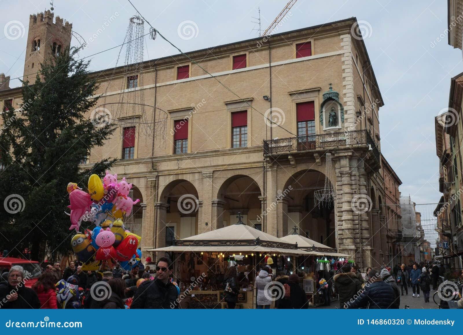 Central fyrkant av Rimini, Italien