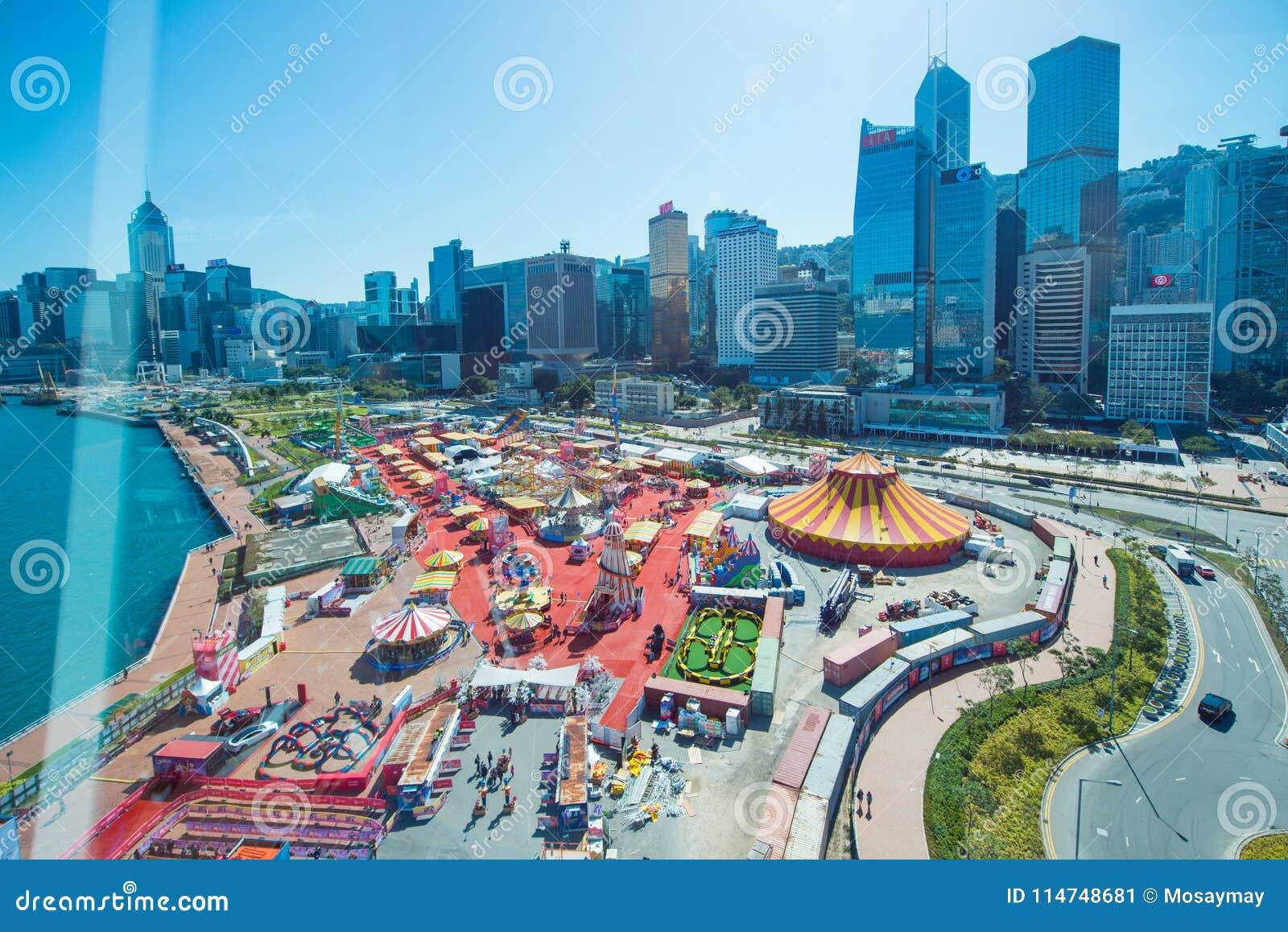 Central, Hong Kong - 10 de enero de 2018: El gran europeo Ca de AYA