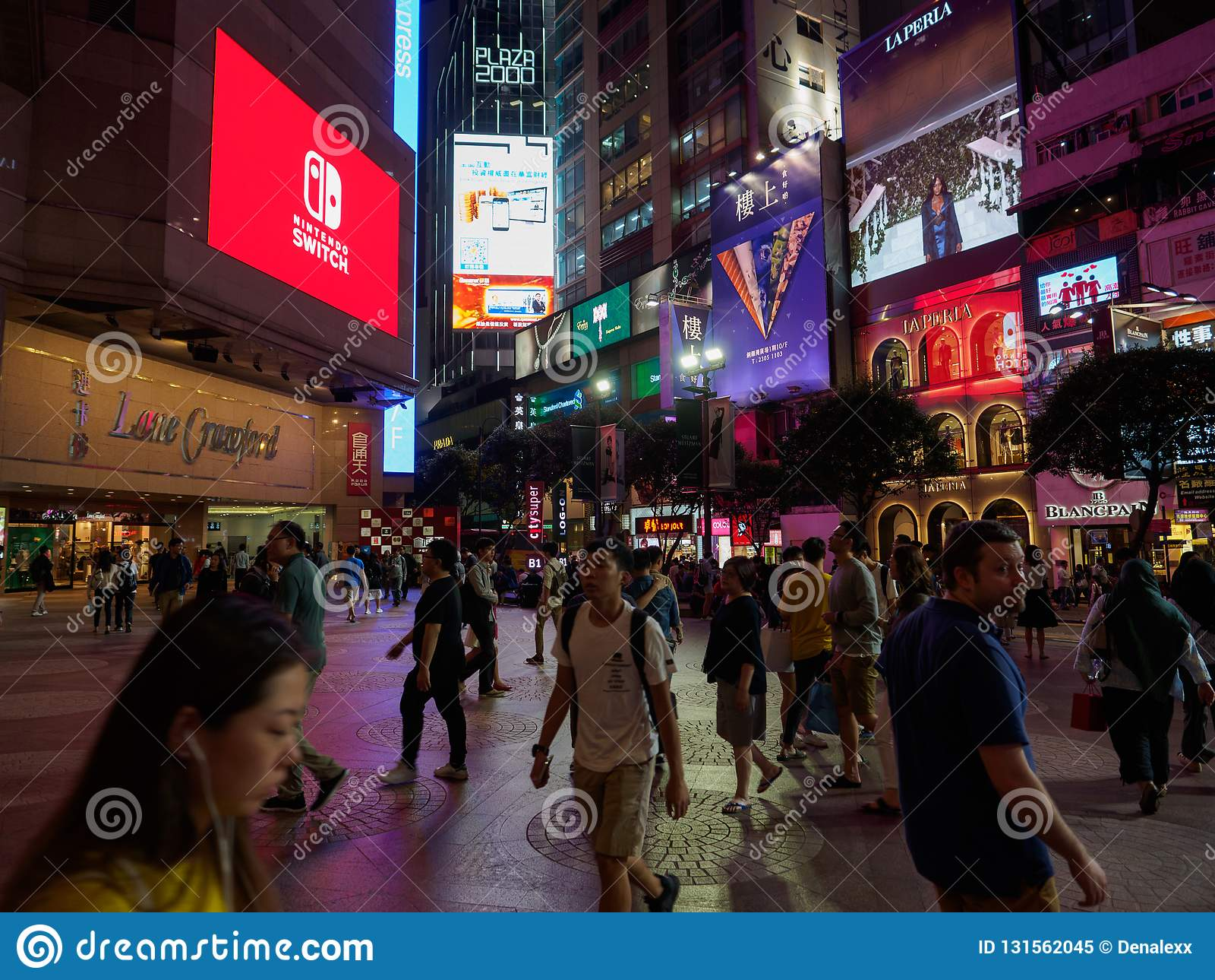 A photo taken near the Times Square shopping center near Russel street Hong Kong