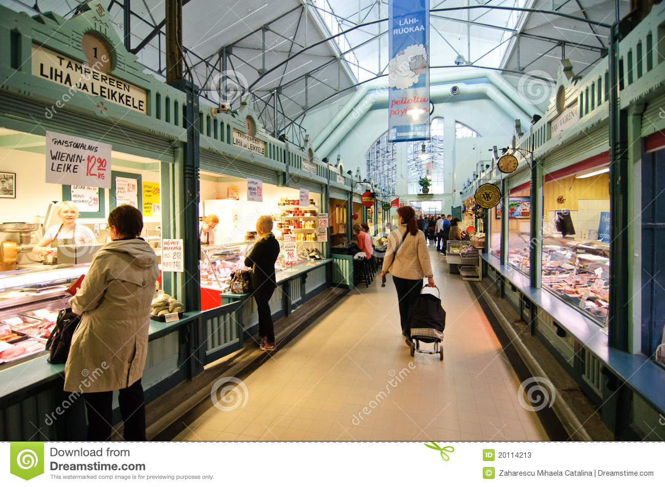 Central Market In Tampere Finland Editorial Stock Photo  Image 20114213