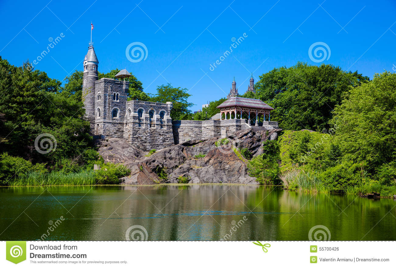 central park belvedere castle stock photo image 55700426