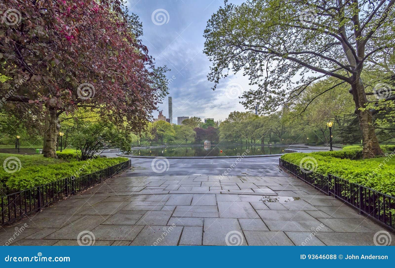 Central Park, de de Stadslente van New York