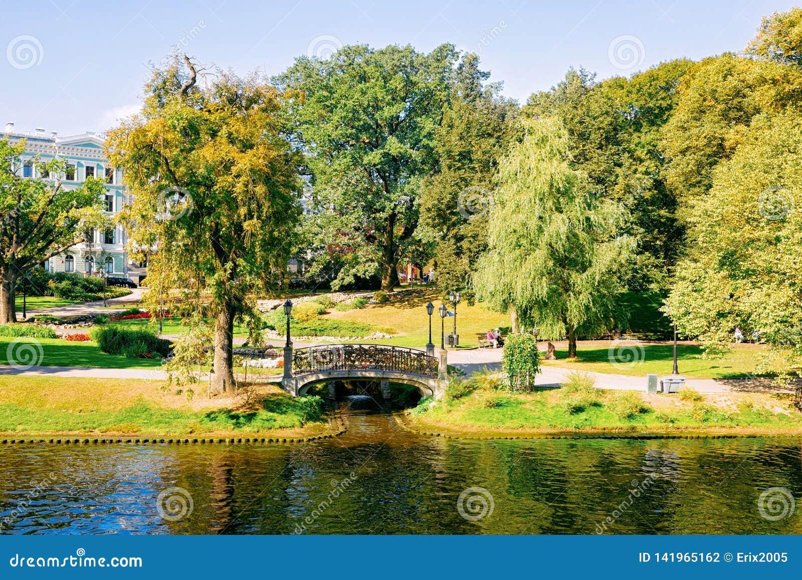 Central Park en Riga Letonia