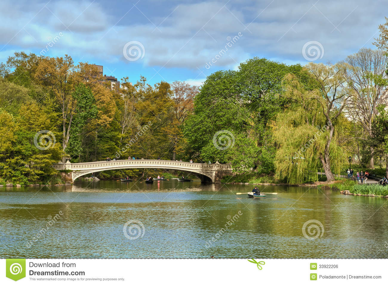 Central Park Lake, New York City, United States Of America Editorial on