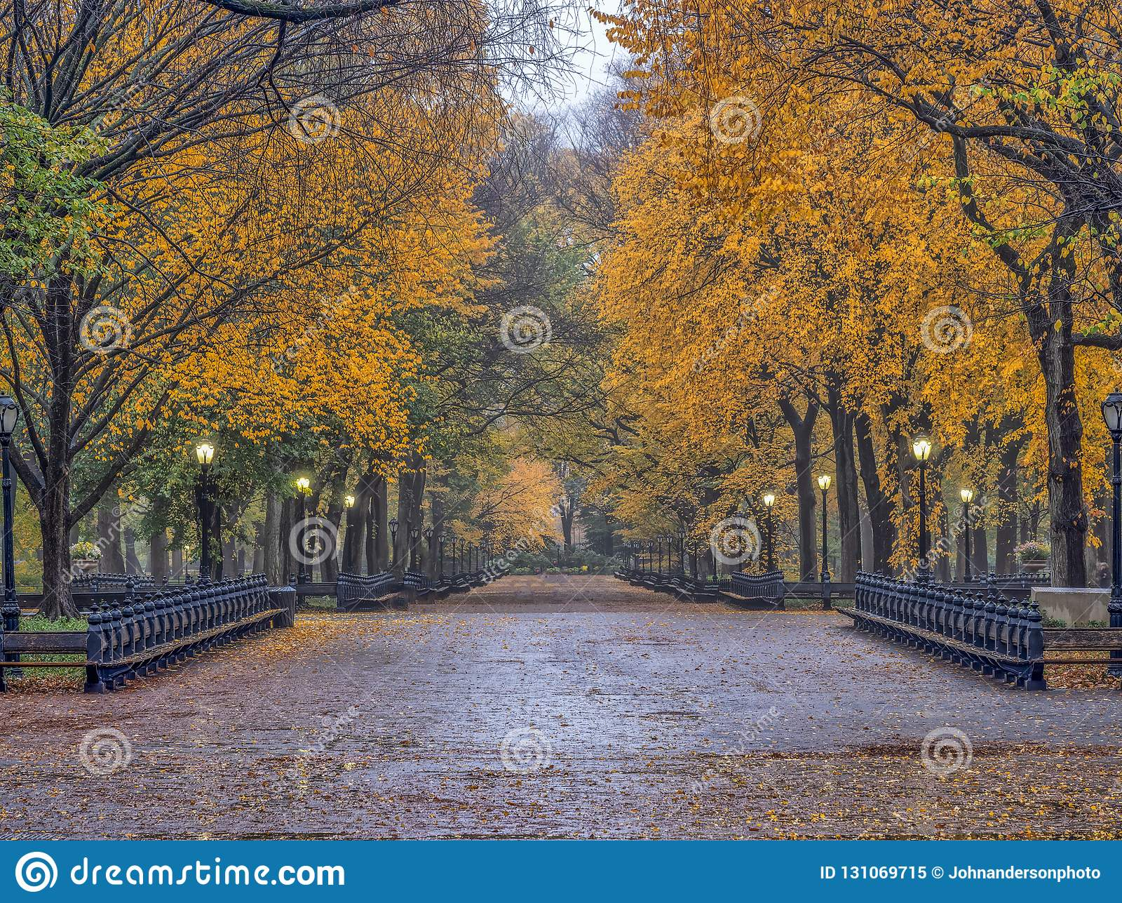 Central Park-Mall im Herbst