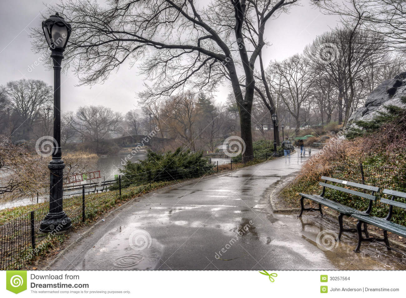 Central Park, New York City After Rain Storm Stock Images - Image: 30257564