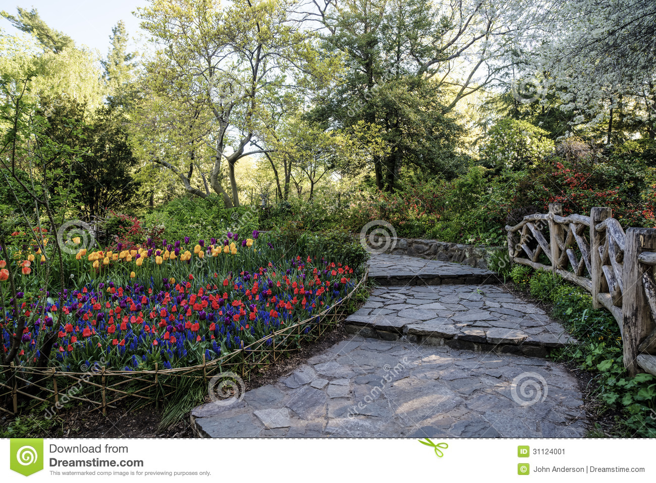 Central Park New York City Shakespeare Garden Stock Image Image Of Plants York 31124001
