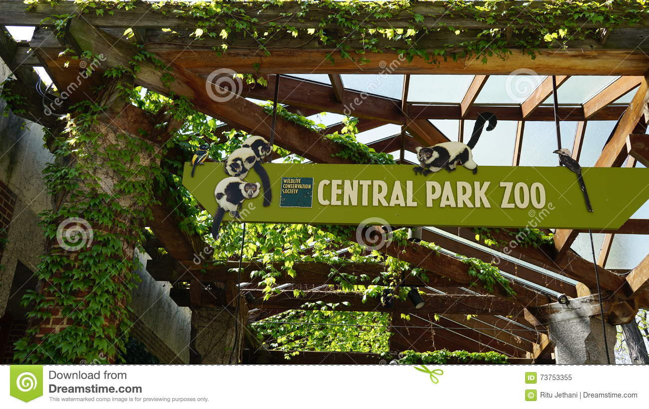 central park zoo new york editorial image image of outdoor 73753355. Black Bedroom Furniture Sets. Home Design Ideas