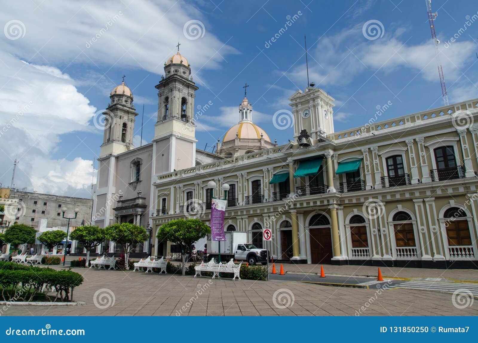 Central plaza i Colima, Mexico