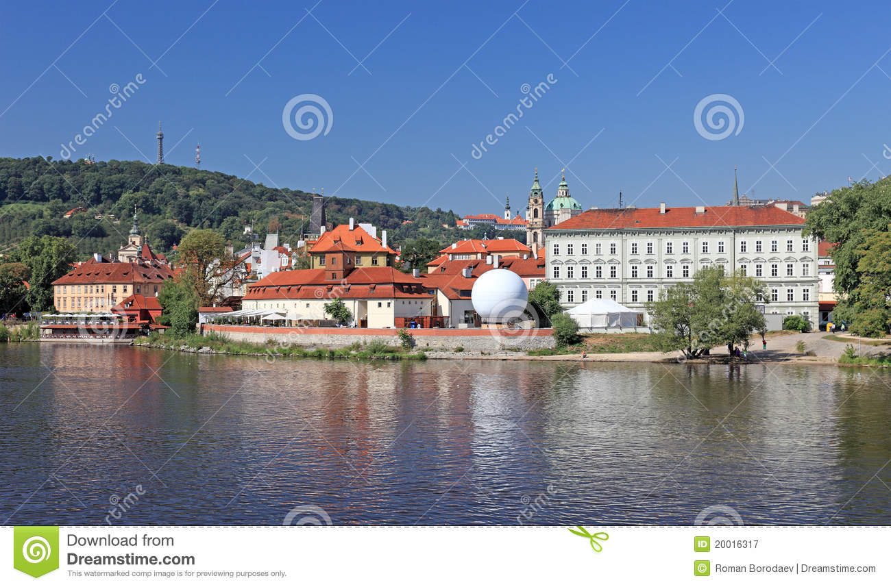 Central prague view czech royalty free stock photography for Central prague