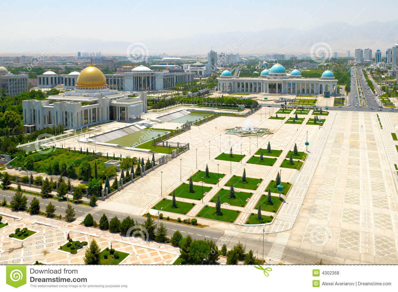 Central square of Ashgabat