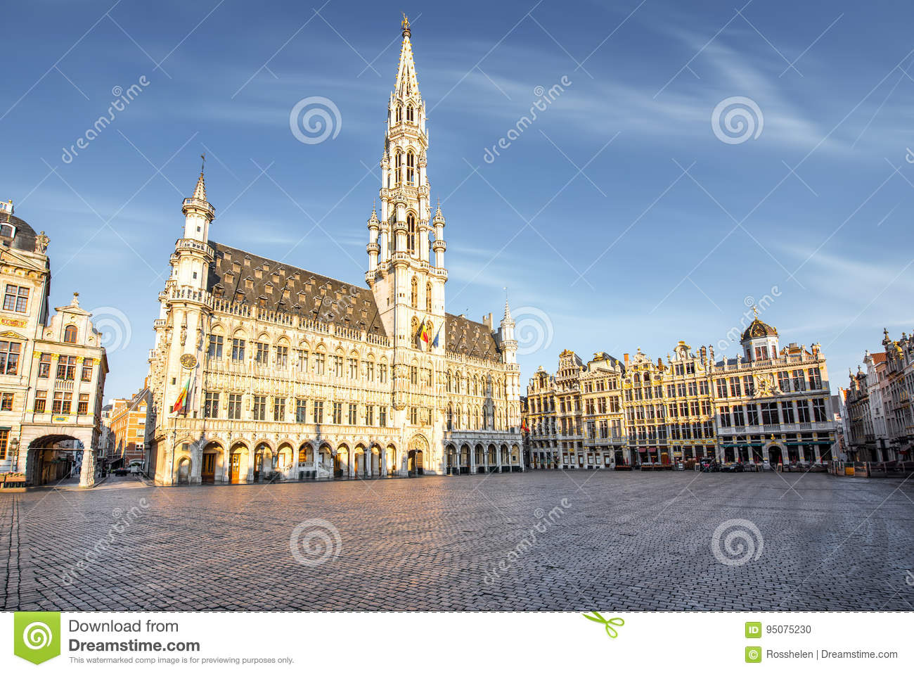 Central square in Brussels city