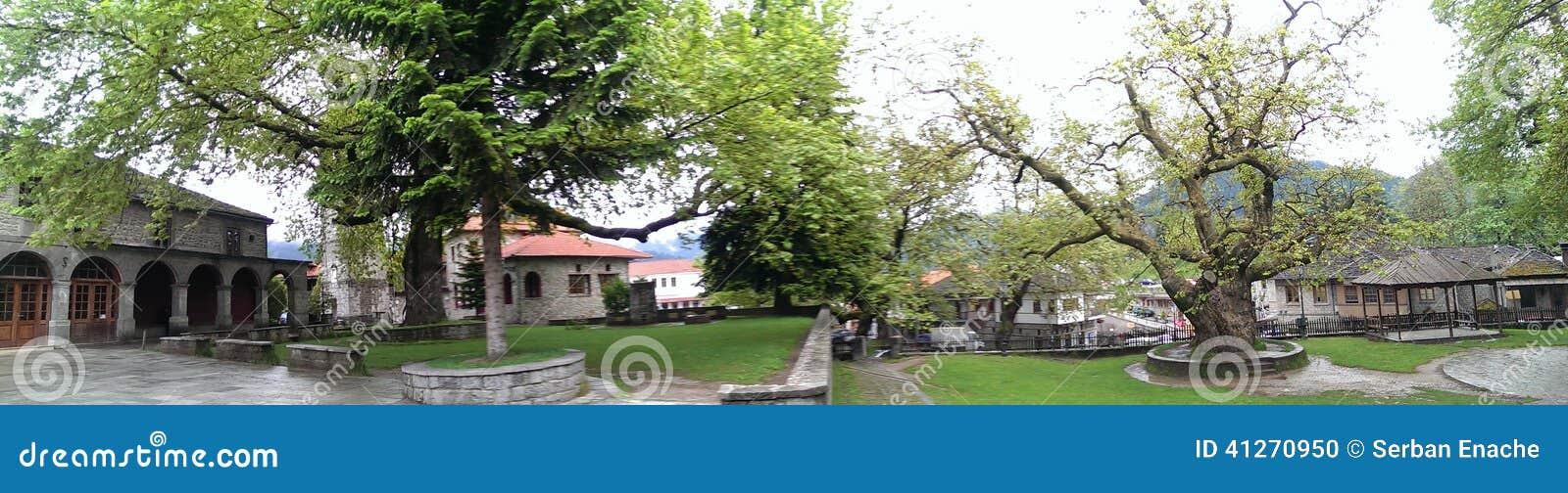 Central square in Metsovo