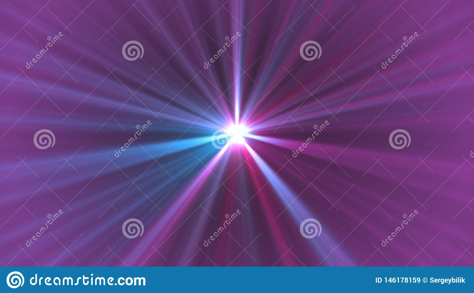 Central star shine optical lens flares shiny bokeh illustration art background new natural lighting lamp rays effect