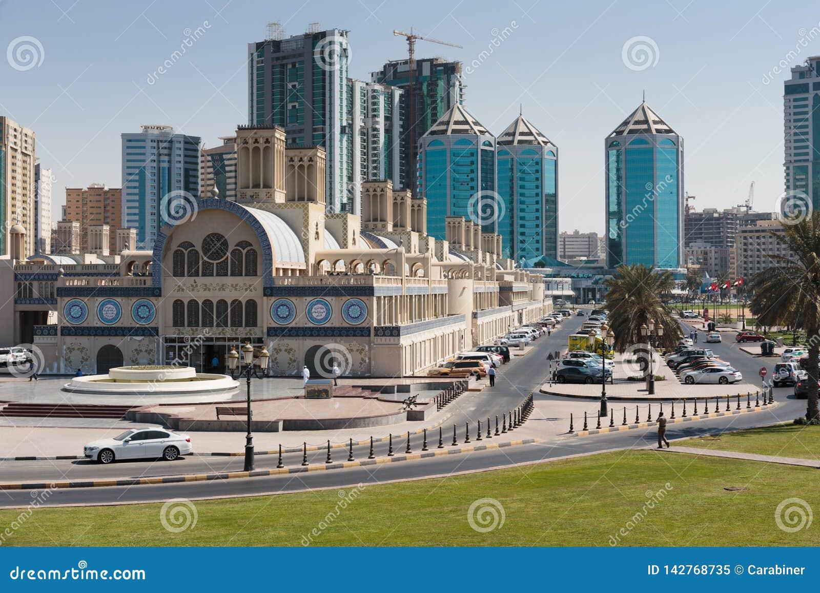 Centrala Souq i den Sharjah staden, Förenade Arabemiraten