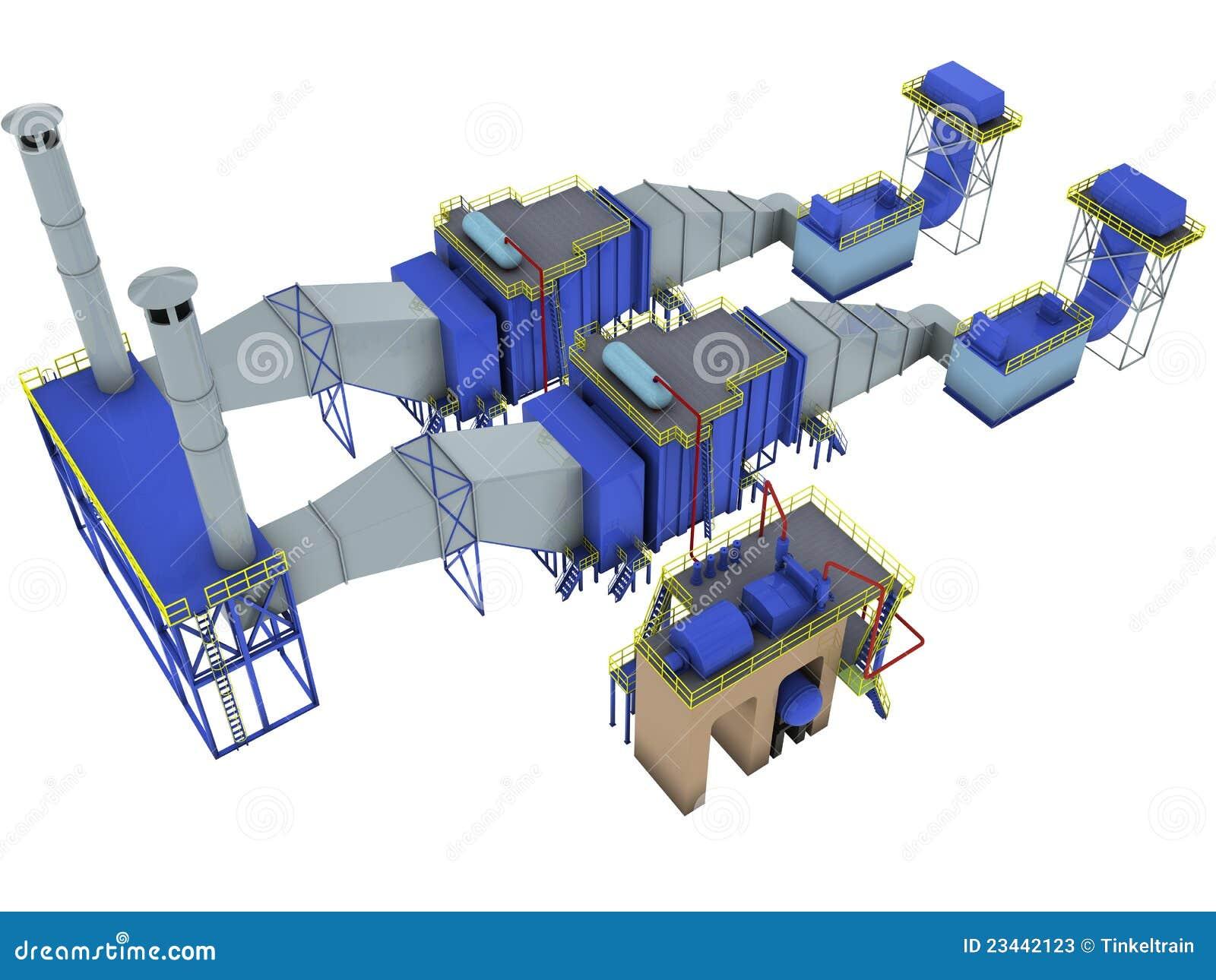 centrale de turbine gaz illustration stock illustration du isolement 23442123. Black Bedroom Furniture Sets. Home Design Ideas