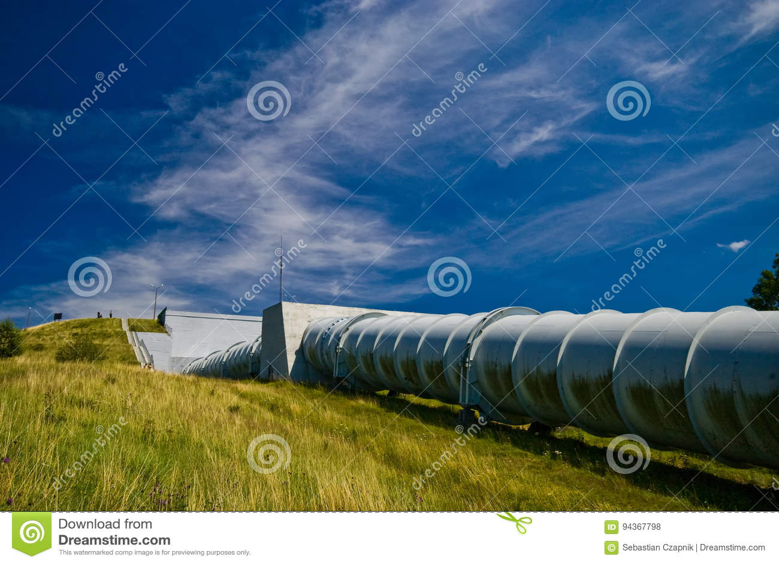 Centrale elettrica dell acqua in Zydowo Polonia