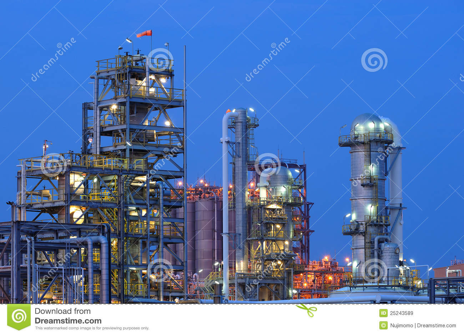 Centrale pétrochimique