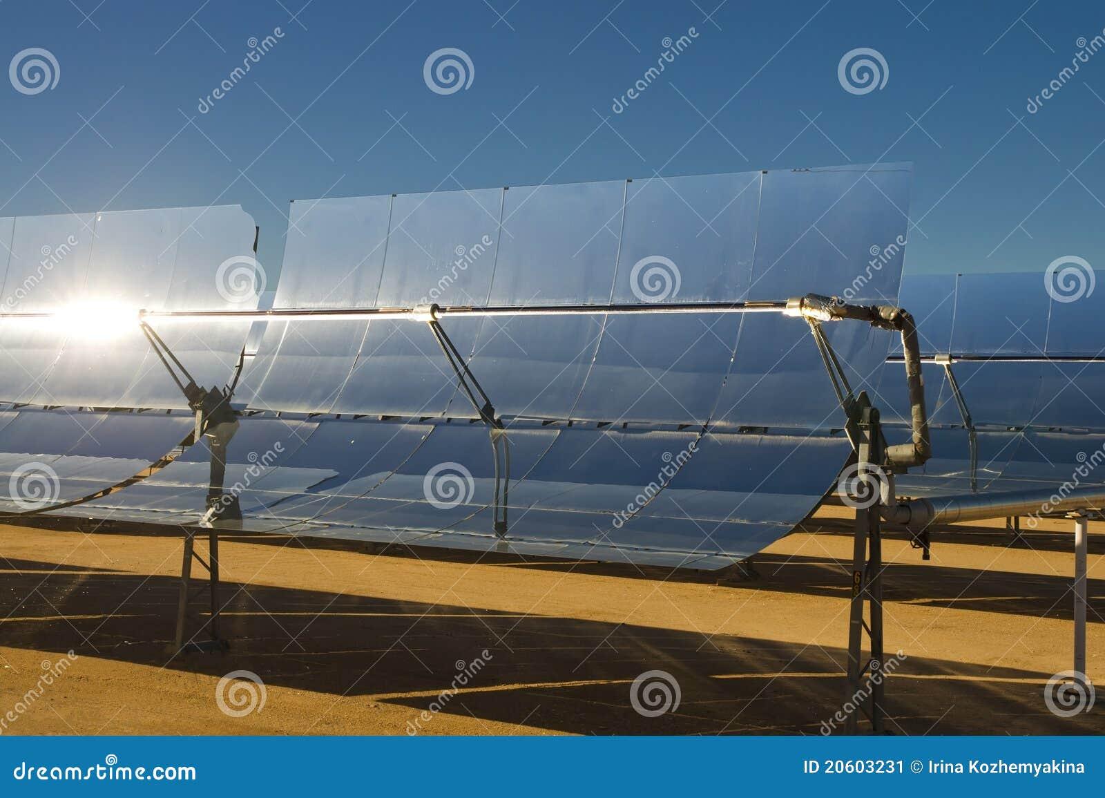Centrale solaire de l 39 lectricit d 39 nergie thermique for Miroir parabolique solaire