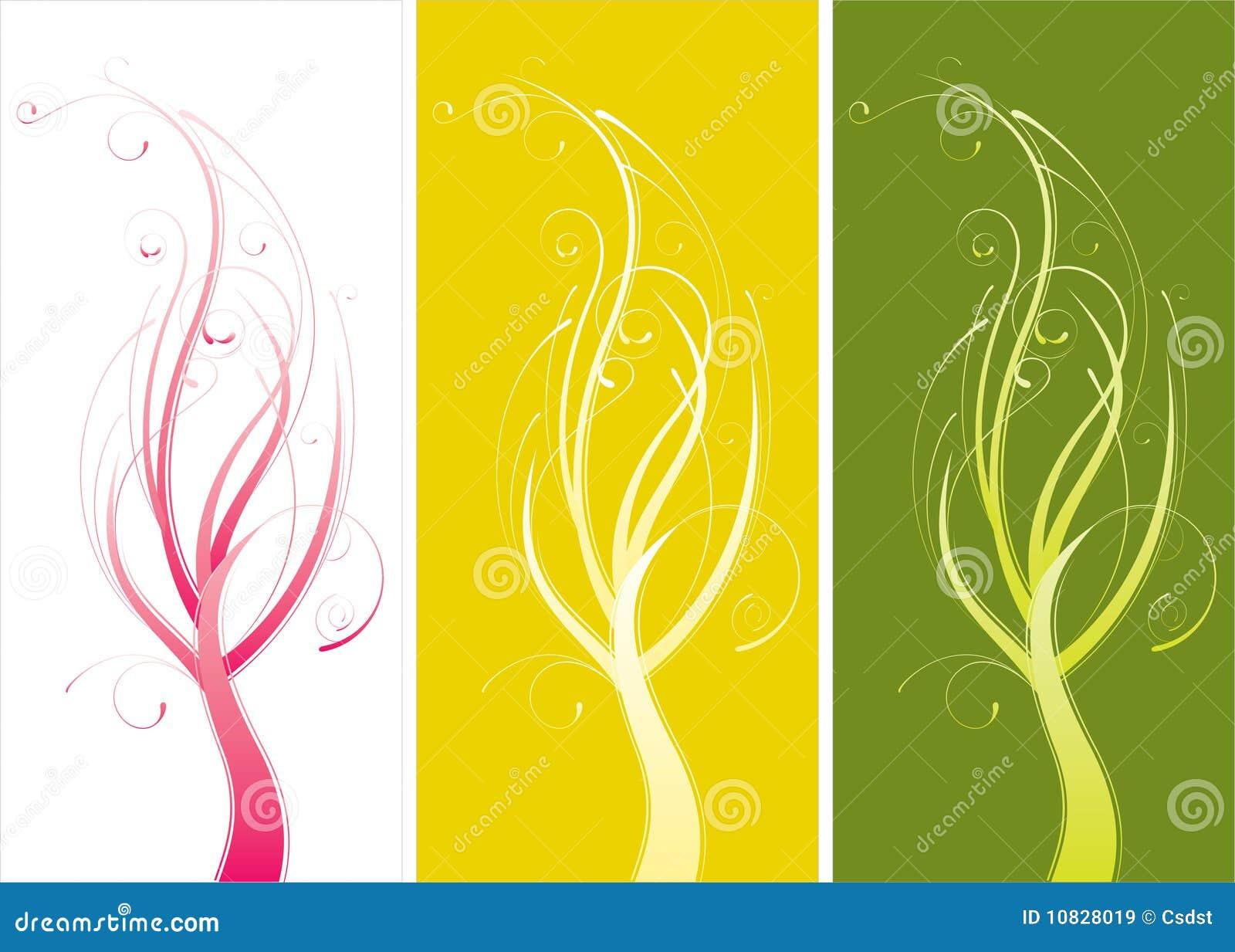 Centrales abstraites colorées