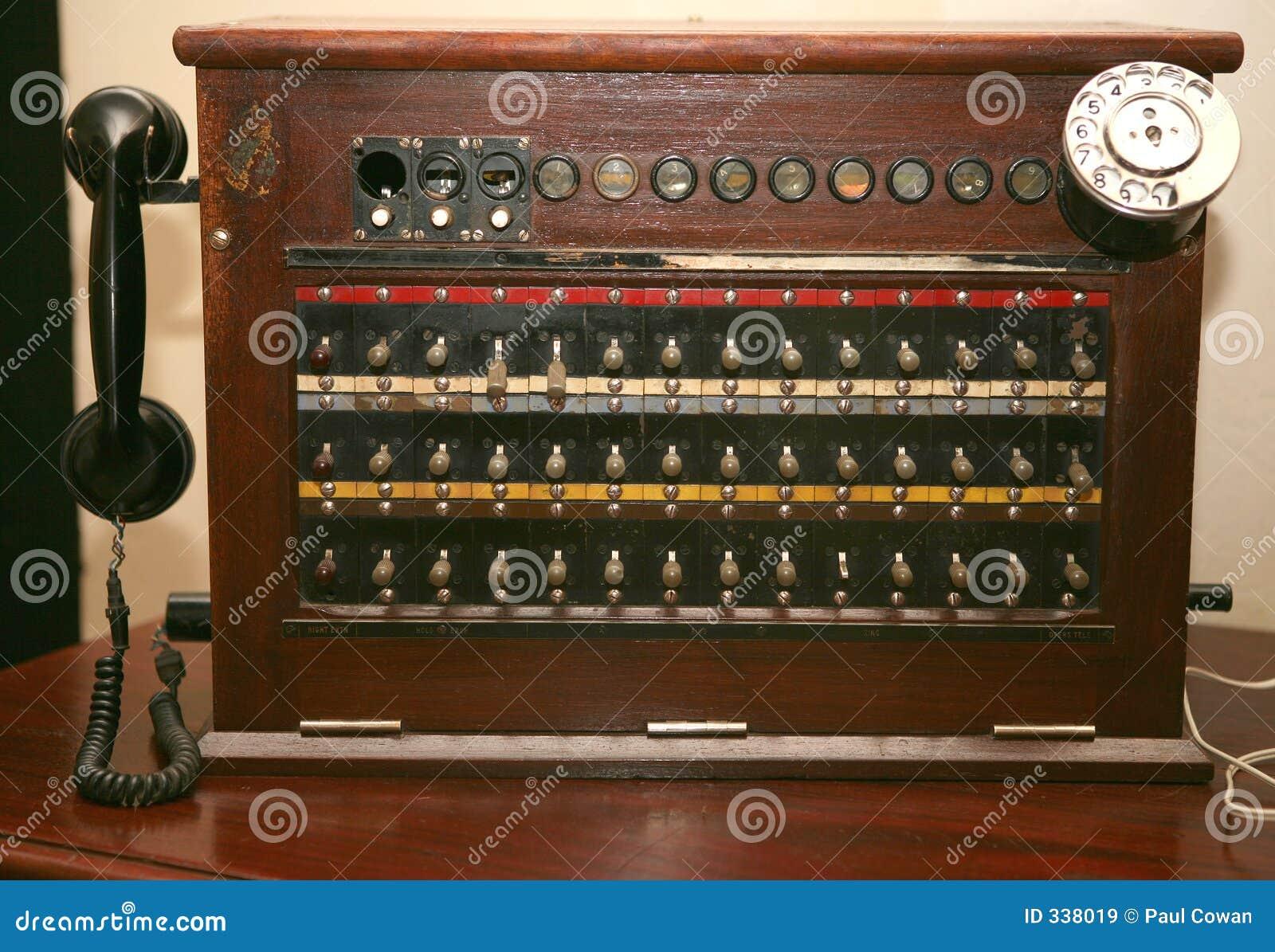 centralino antico del telefono immagine stock immagine