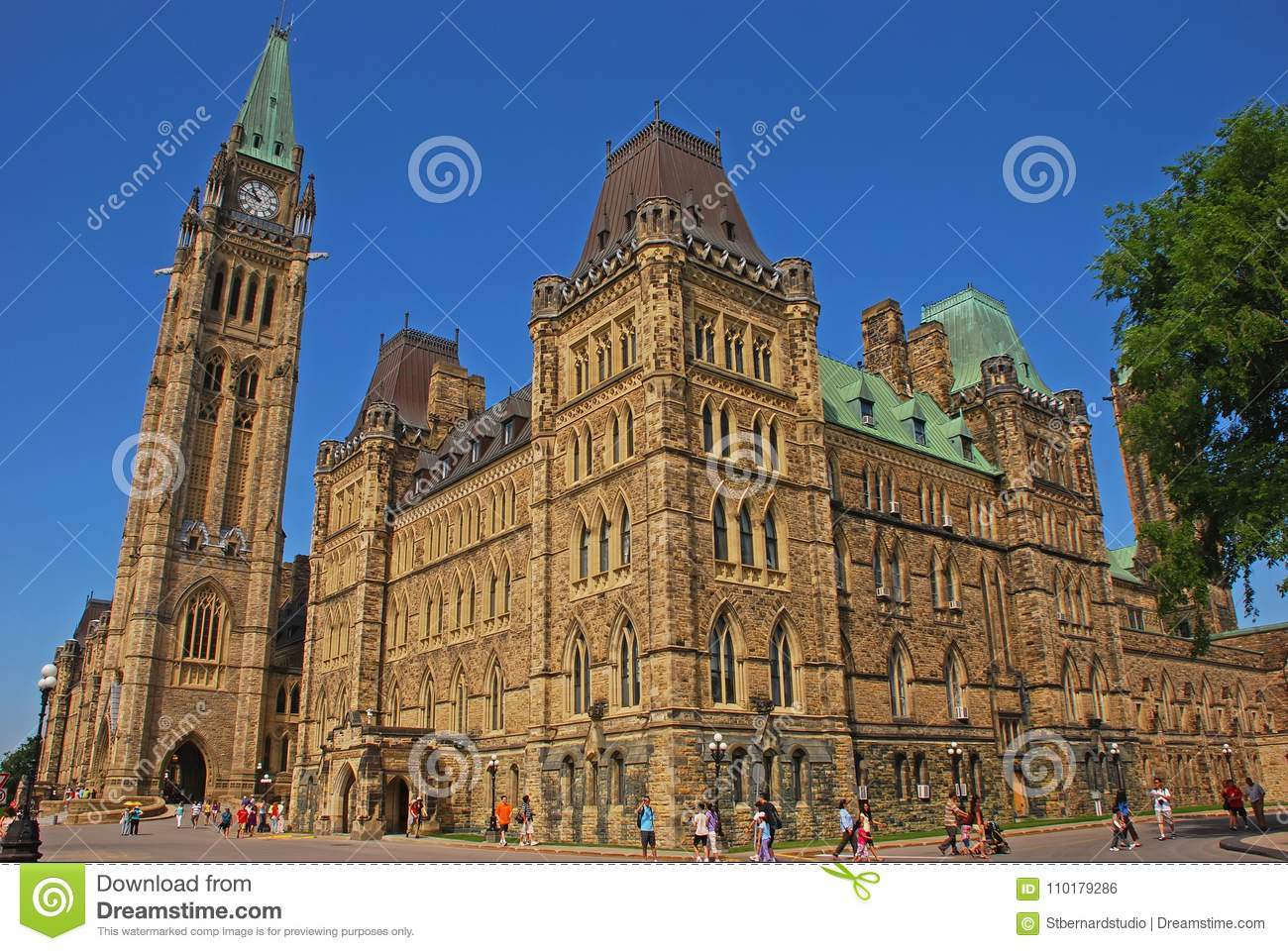 This is Centre Block which is the main building of the Canadian parliamentary complex on Parliament Hill, Ottawa, Ontario, Canada
