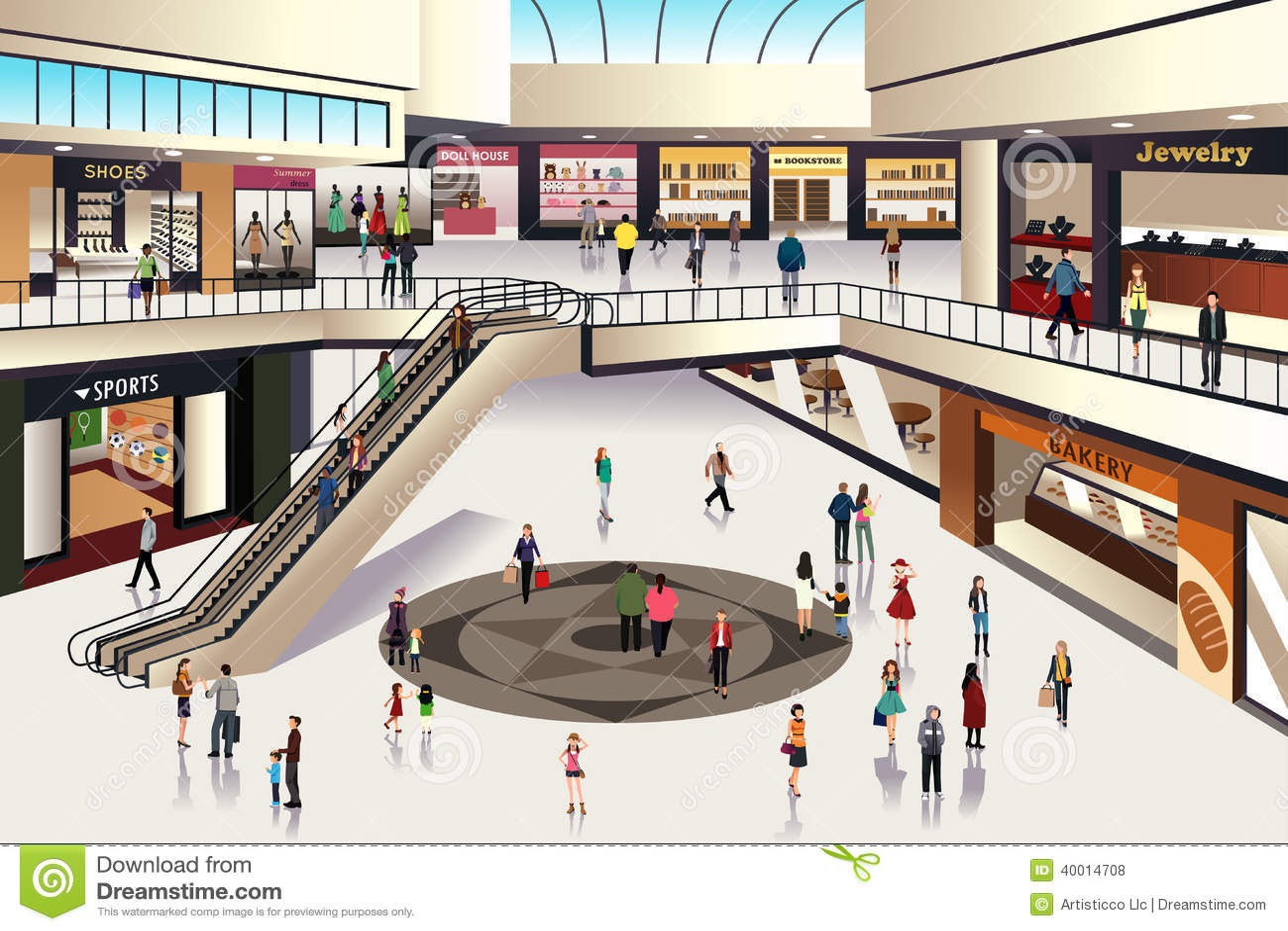 Centre commercial illustration de vecteur image du d tail - Centre commercial daumesnil ...