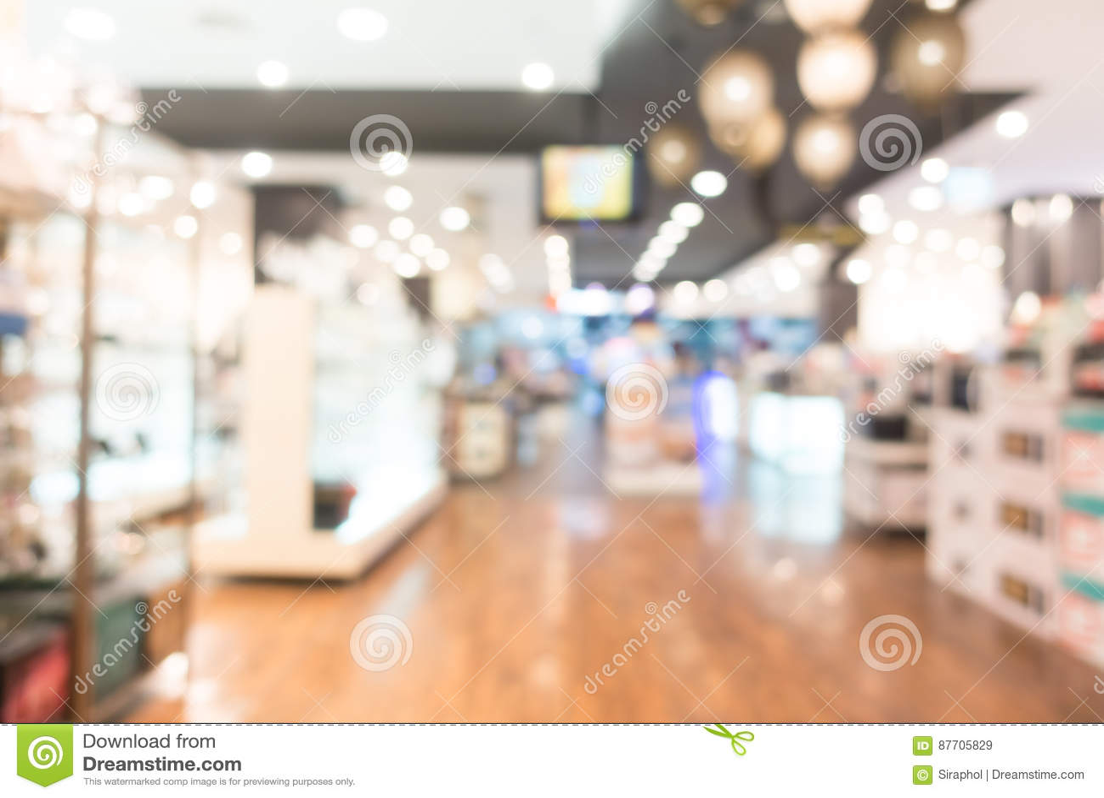 Centre commercial abstrait de tache floue