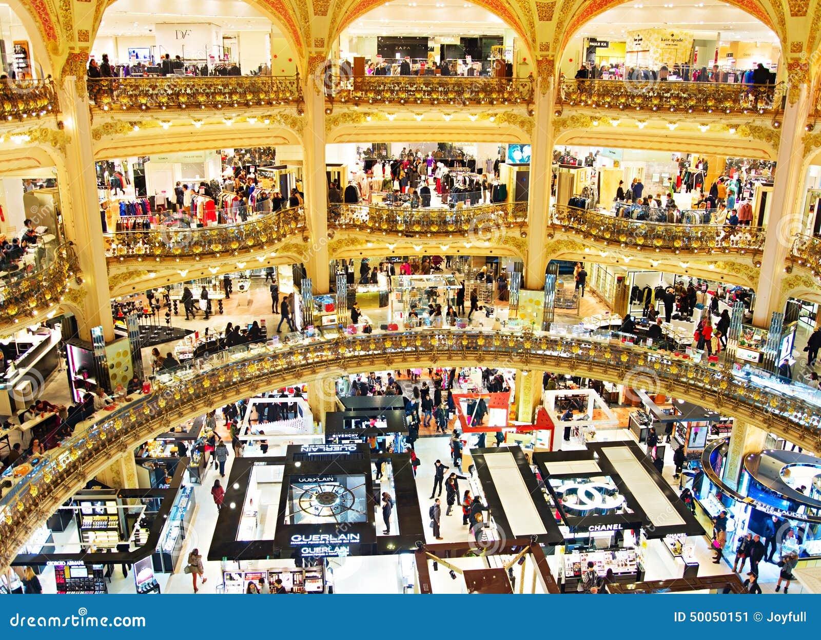 centre commercial de luxe paris photo ditorial image. Black Bedroom Furniture Sets. Home Design Ideas