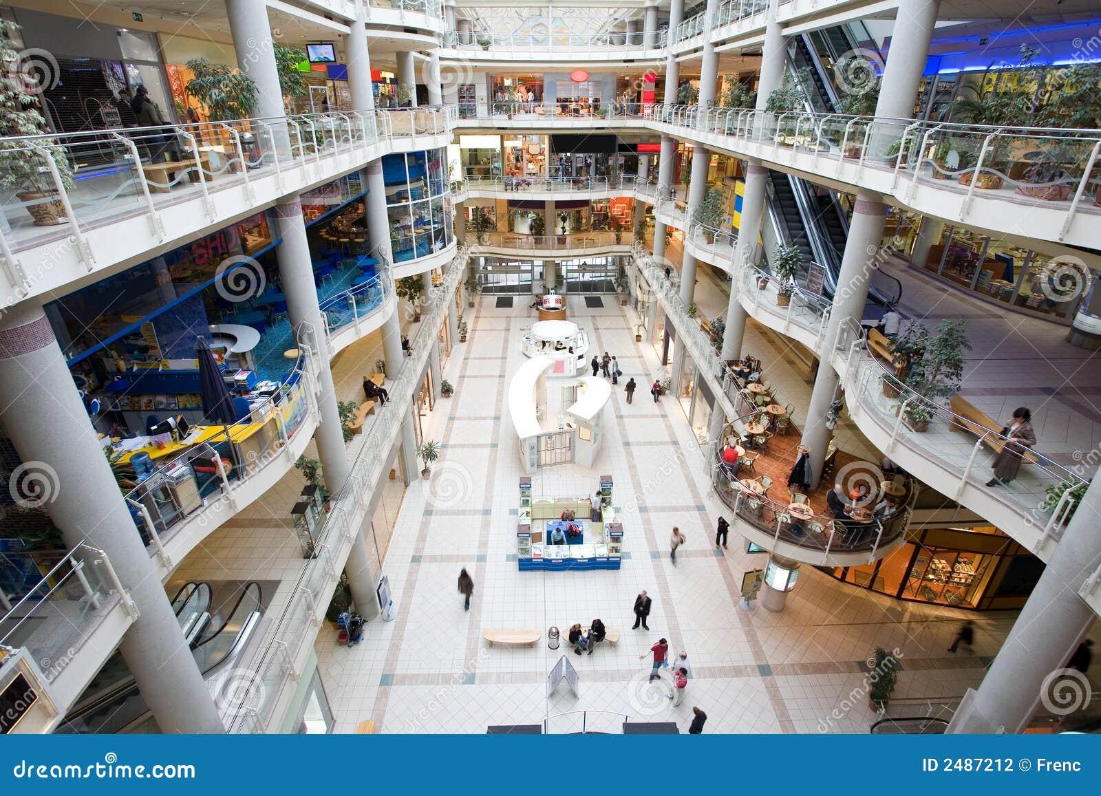 Centre commercial multiniveaux