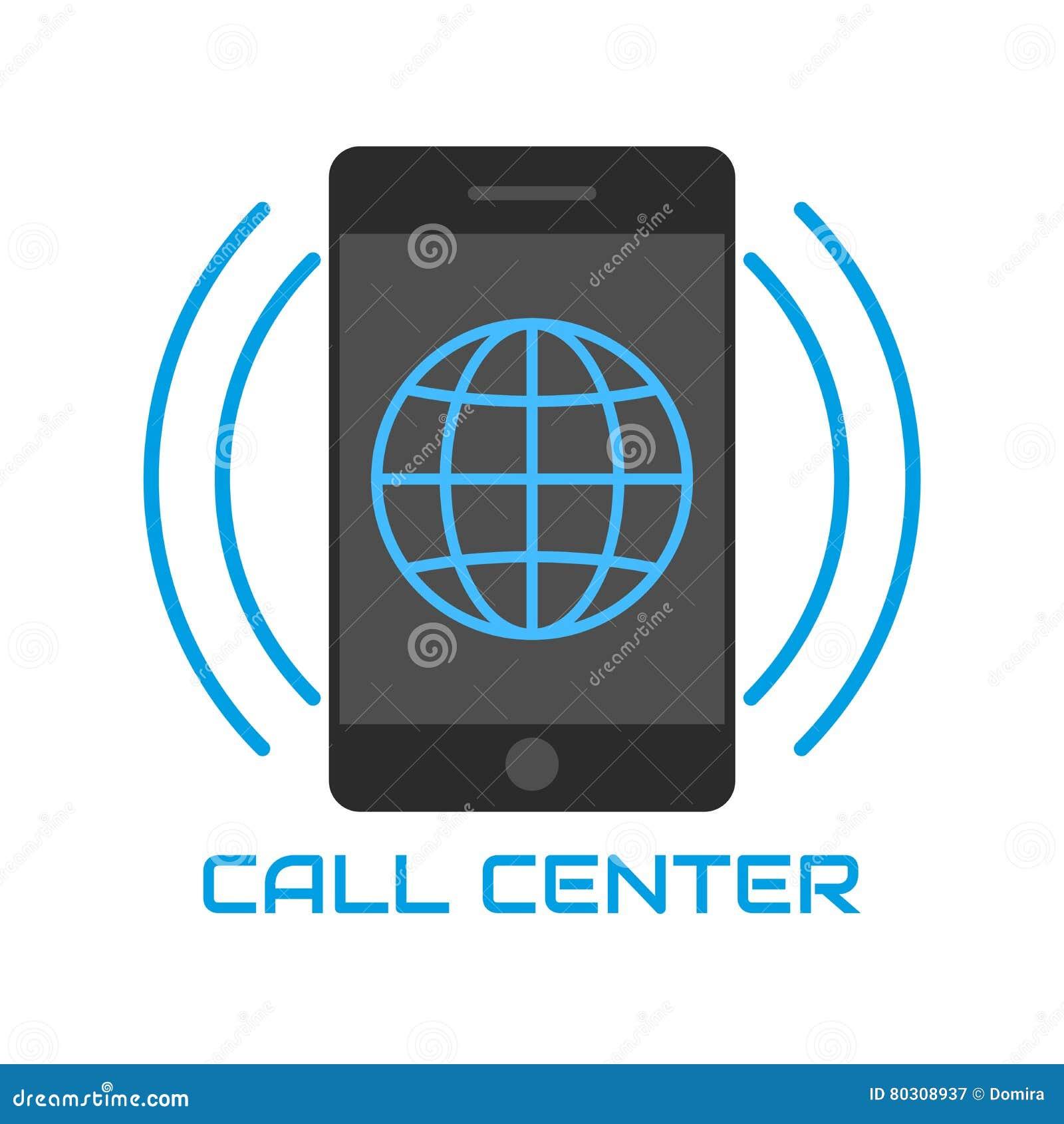 centre d 39 appels d 39 ic ne logo globe bleu t l phone portable ondes sonores illustration de. Black Bedroom Furniture Sets. Home Design Ideas