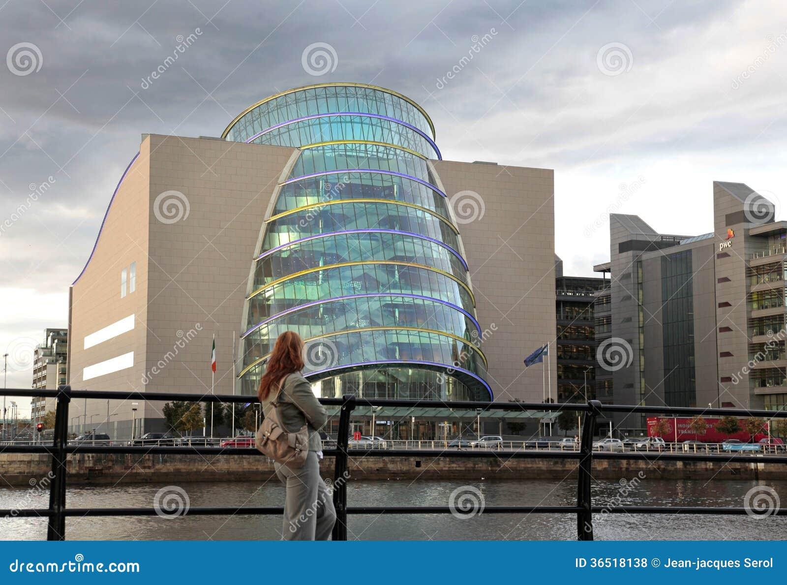 Centre de convention, région de quartiers des docks, Dublin, Irlande.