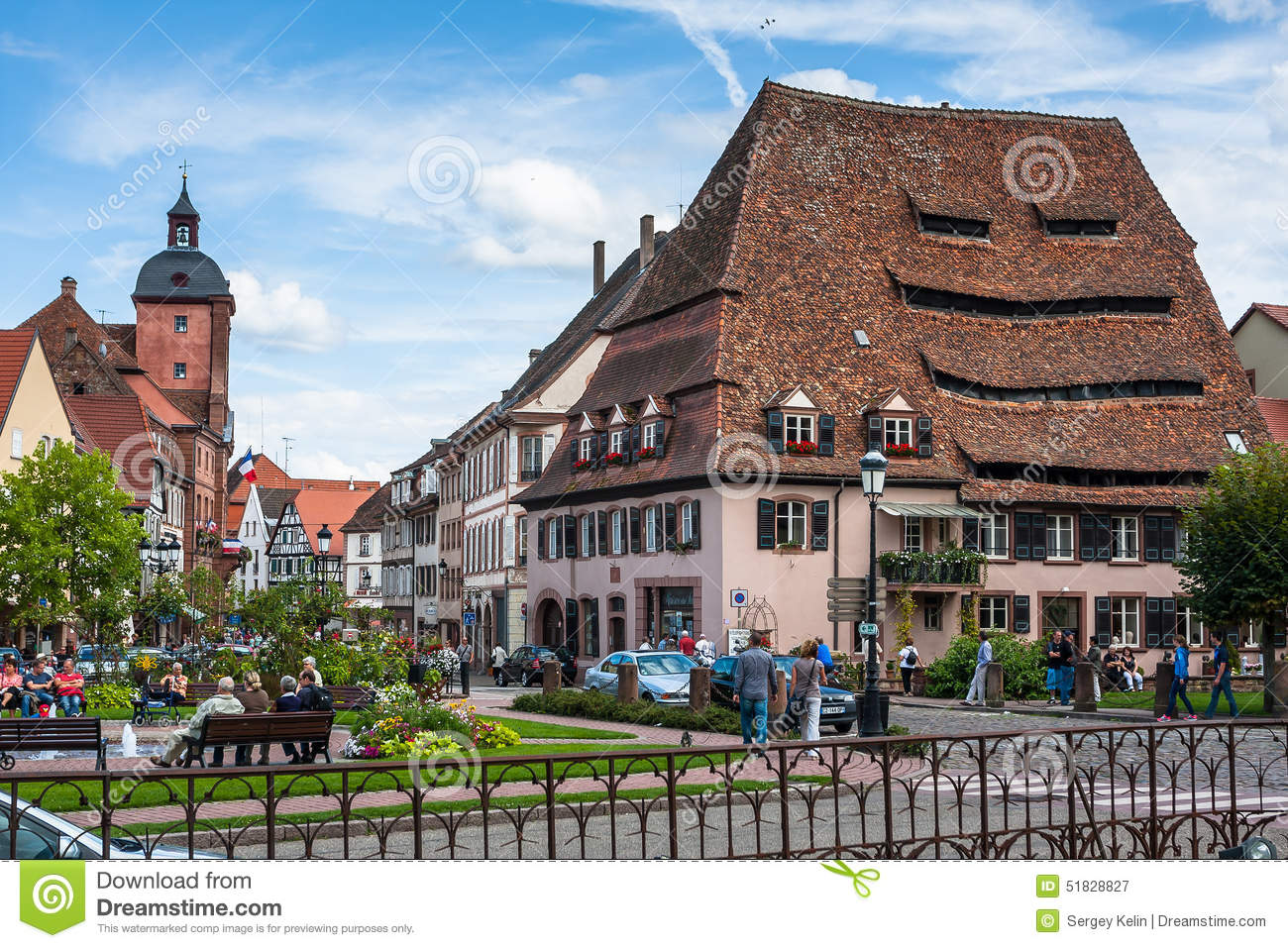 centre de ville de wissembourg pr s de maison du sel photographie ditorial image du cityscape. Black Bedroom Furniture Sets. Home Design Ideas