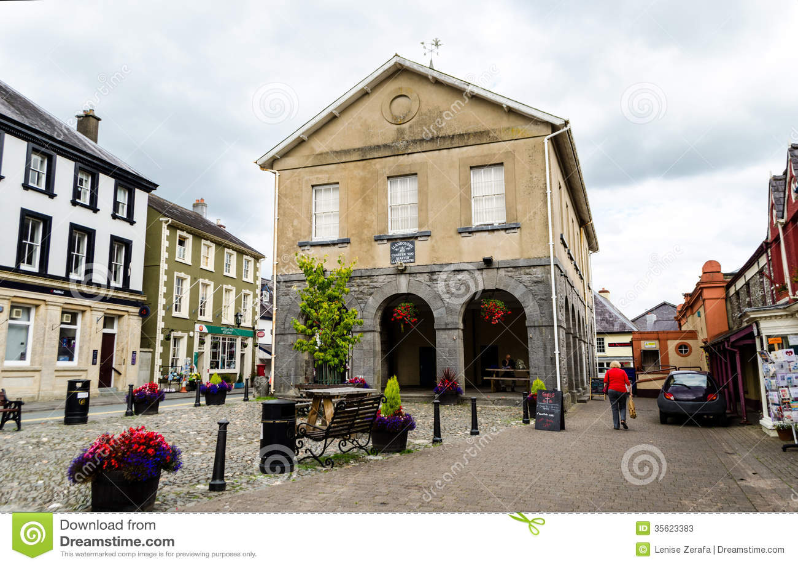 Llandovery United Kingdom  City new picture : Centre of Llandovery – Wales, United Kingdom Editorial Stock Photo