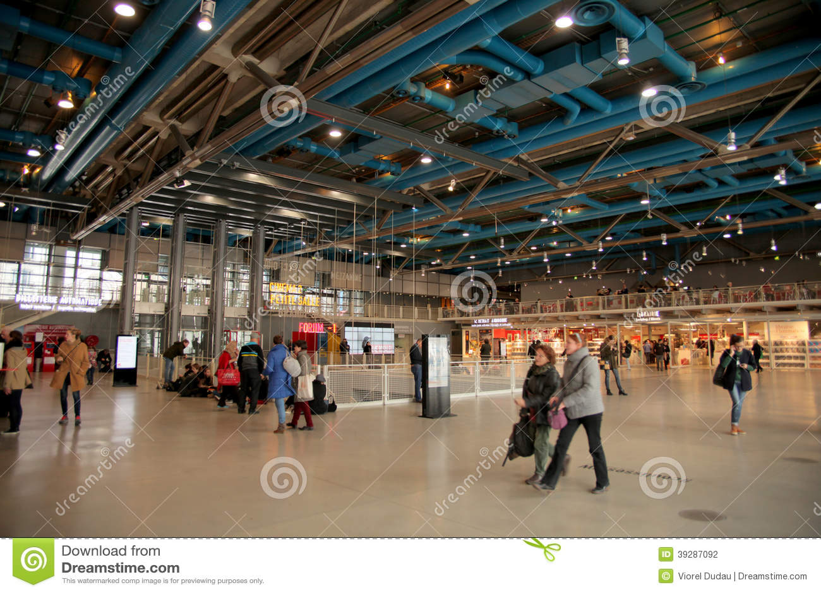 Centre pompidou museum in paris editorial photography - Centre george pompidou architecture ...