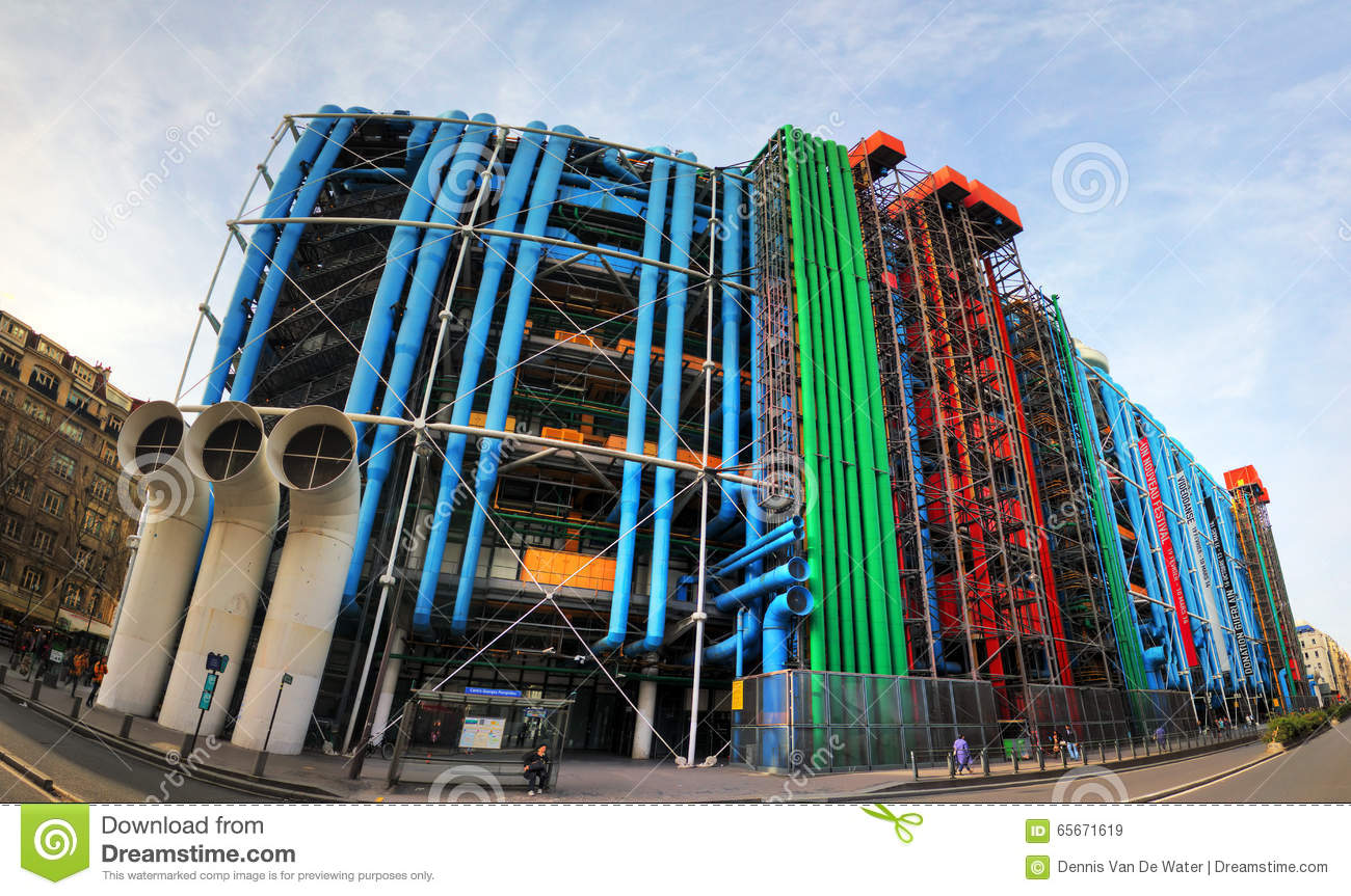 centre pompidou editorial stock image image of exterior 65671619