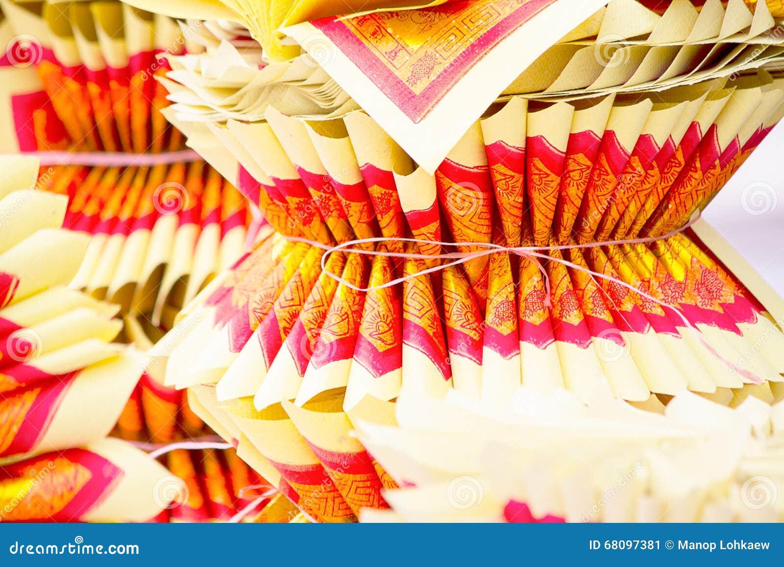 Centre sélectif de Chinois Joss Paper, traditionnel pour disparu les spiritueux de l ancêtre